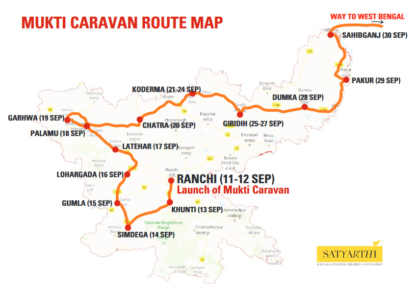 Mukti Caravan Route Map
