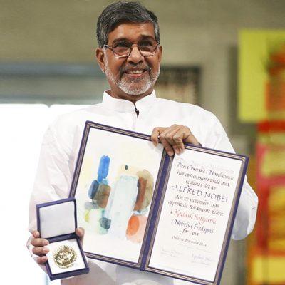 Kailash Satyarthi with Nobel Peace Prize