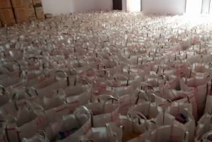 1000 dry ration packet at Rajouli BDO Office 2 COVID-19 Support Center
