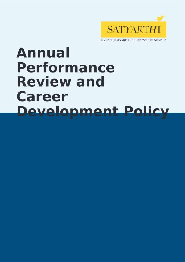 11. Annual Performance Review and Career Development Policy KSCF pdf KSCF Policy