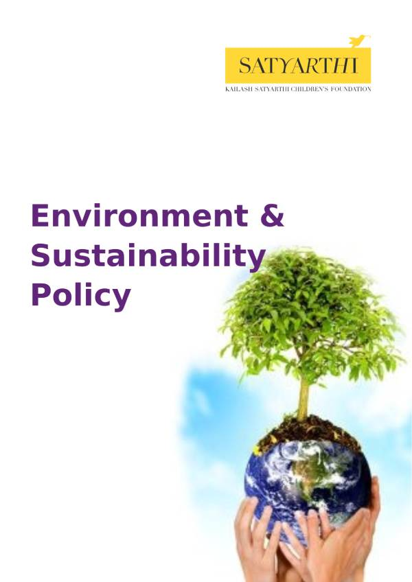 2. Environment Sustainability Policy KSCF pdf KSCF Policy