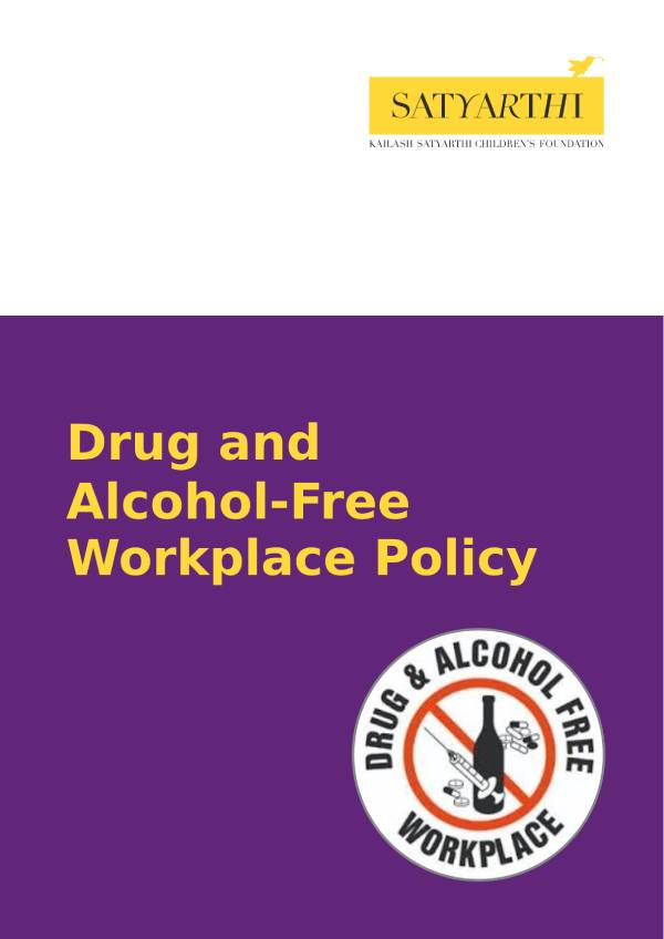 3. Drug and Alcohol Free Workplace KSCF pdf KSCF Policy