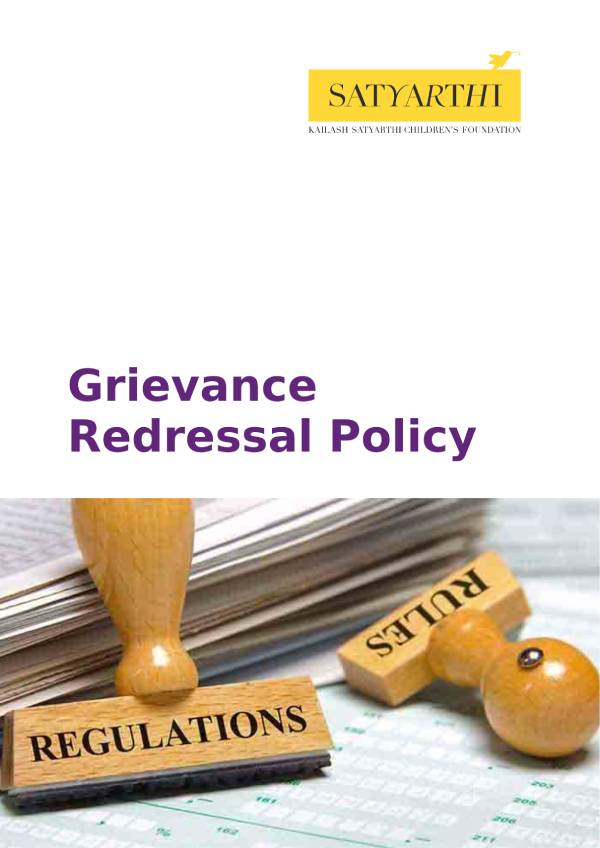 5 Grievance Redressal Policy KSCF pdf KSCF Policy