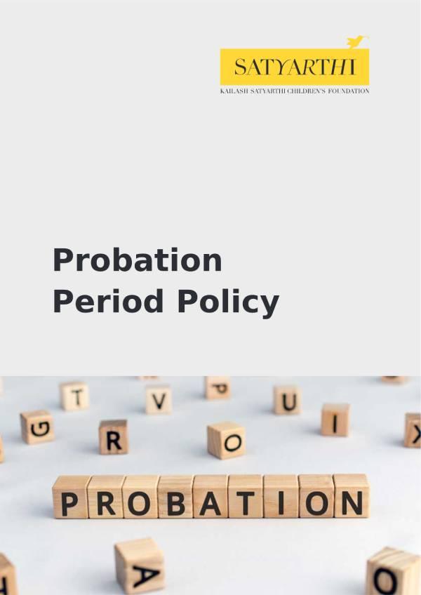 6. Probation Period Policy KSCF pdf KSCF Policy