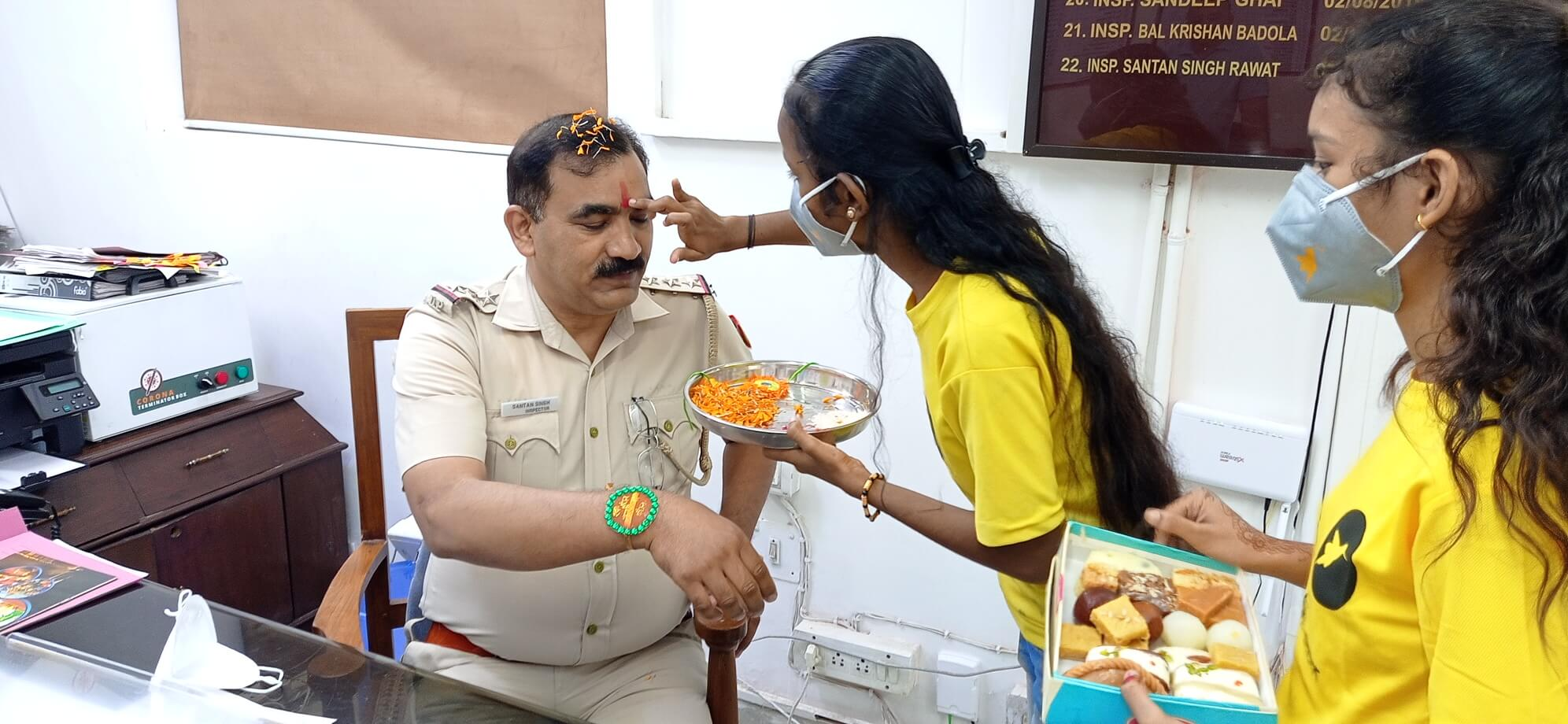 Raksha Bandhan with Delhi Police