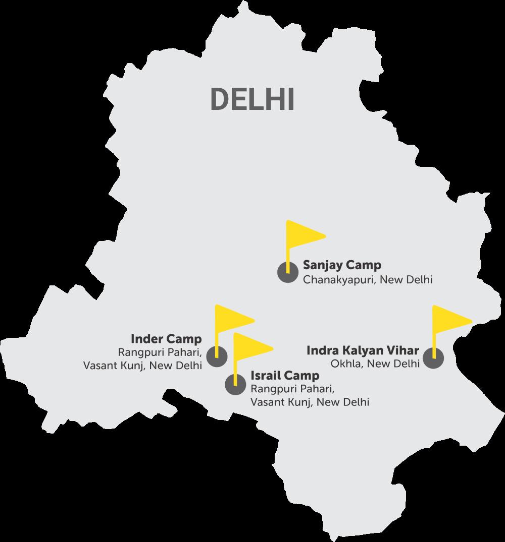Bal Mitra Mandal working Area map